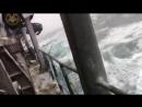 Russian caught in a storm / Корабль с автомобилями попал в шторм