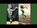 Зеленый человек танцует /Кто круче /Прям все повторилиDame tu Cosito