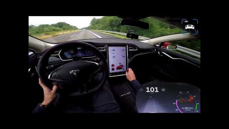 Tesla Model S P100D МАКСИМАЛКА МАКСИМАЛЬНАЯ СКОРОСТЬ ПЕДАЛЬ В ПОЛ РАЗГОН АВТОБАН ЛАУНЧ СТАРТ