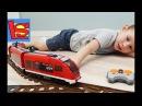 Скоростной поезд Лего ЖЕЛЕЗНАЯ ДОРОГА с развилками авария поезда на пульте управления ЛЕГО СИТИ