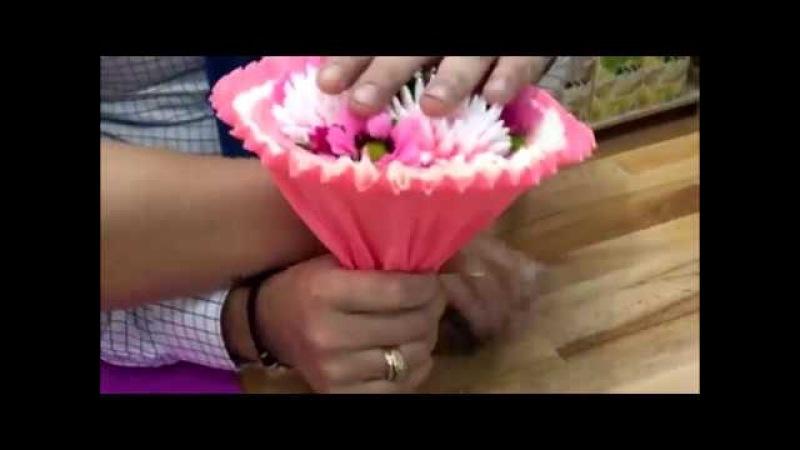 Как сделать мыльный букет на каркасе Выдумщики ру
