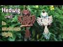 Macrame owl tutorial - The beautiful Hedwig of Harry Potter - Step by step giude