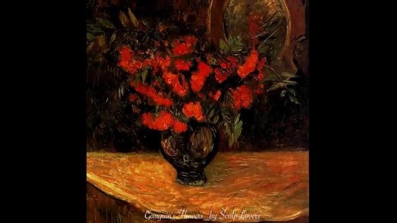 Gauguins Flowers Paintings by Paul Gauguin.1848-1903.French post-Impressionist. facebook.comArtsEmotions Music Chopin