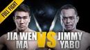 ONE: Ma Jia Wen vs. Jimmy Yabo   August 2016   FULL FIGHT