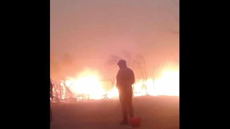 Катастрофические степные пожары, спровоцированные сухой погодой и сильным ветром, в Забайкальском крае, 19 апреля 2019.