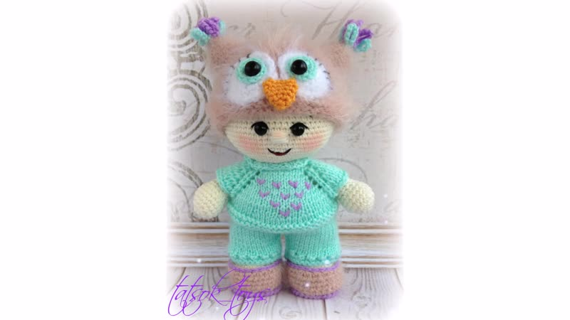 Пупс-малыш в костюме совенка Сеня