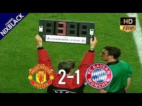 Manchester United 2-1 Bayern Munich 1999 UCL Final All Goals Extended Highlight HD720P