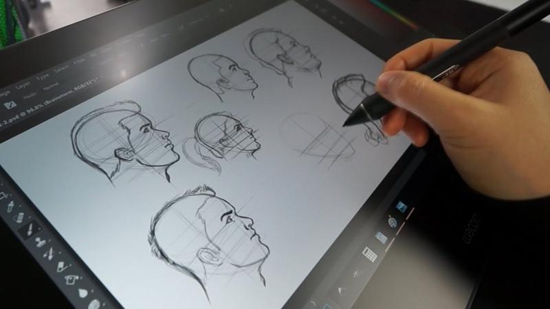 My Tutorial Workflow   Pencil Paper Vs. Cintiq Pro 16