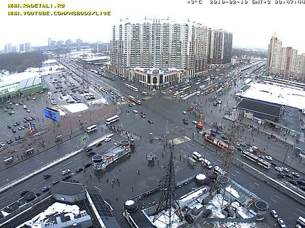 LIVE CAMERA Road crossing Russia. St.Petersburg Stadium panorama. Стадион Санкт-Петербург