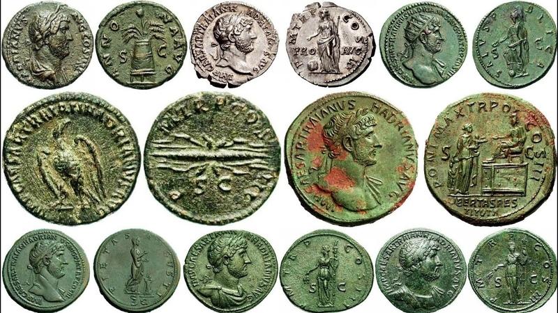 Монеты Древнего Рима, Адриан, Император с 11.08.117 г., Часть 2, Coins of Ancient Rome, Adrian
