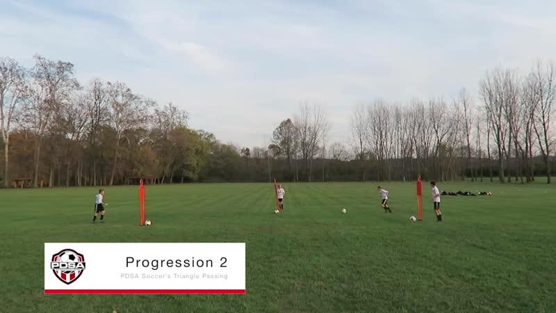 Triangle Passing Drill PDSA Soccer Soccer Skill Drill TV 007