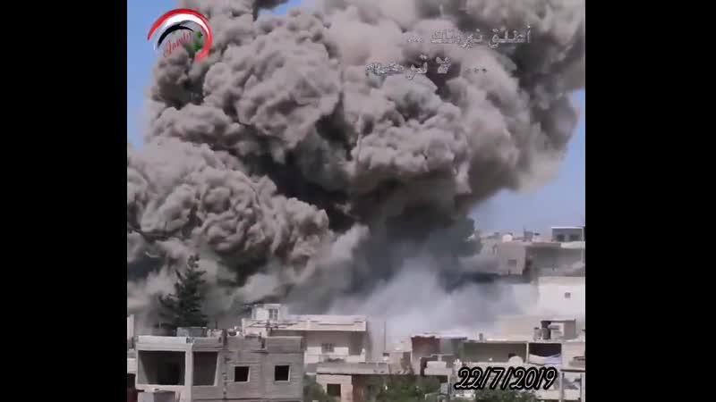 قصف جوي متواصل على مواقع إرهابيين مدينة كفرنبل بريف إدلب