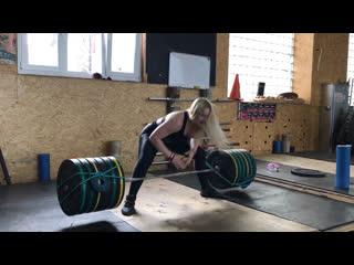 Становая тяга 165 кг девушки