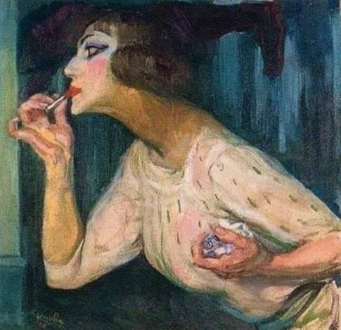 Каждая женщина утром рисует себе лицо. Одна - как Рафаэль. Другая - как Пикассо... Одна я, как Малевич