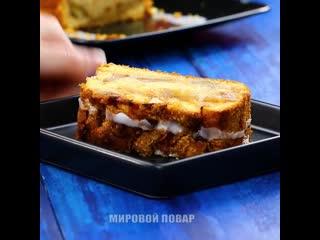 Яблочный пирог-хлеб с корицей и сочными кусочками!