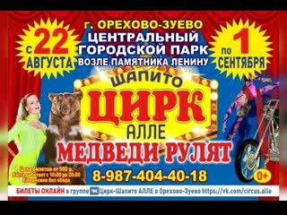 """Цирк-шапито """"Алле"""" в г. Орехово-Зуево"""