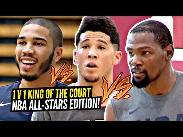1v1 King of The Court NBA All Stars Edition Kevin Durant Paul George Devin Booker GO AT IT