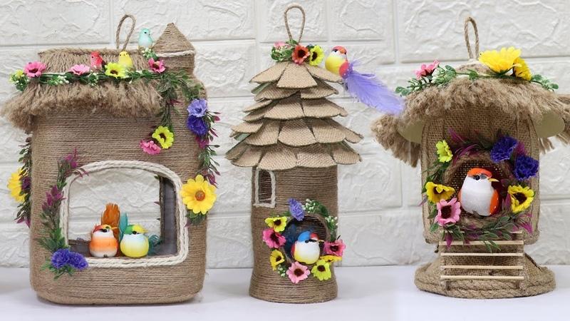 5 Jute craft bird nest | Home decoration ideas handmade | Jute craft