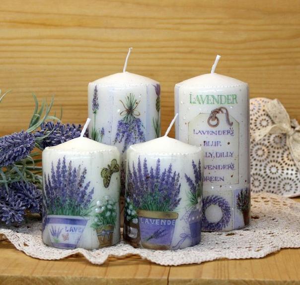 Осенние свечи ручной работы в технике декупаж. Осень - прекрасное время для любви, тепла и уюта!