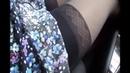 Woman in car sexy legs and socks showing off Kadının arabada seksi bacak ve çorap gösterisi