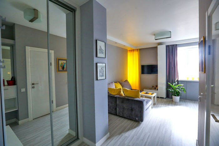 Оформление небольшой квартиры, 35 кв.