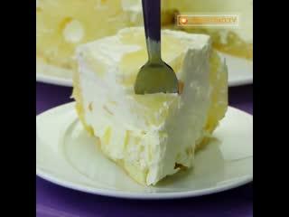 Воздушный торт с ананасом