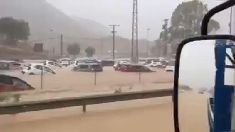 Последствия дождей в Испании