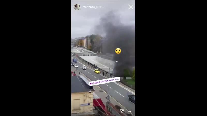 Пожар в московском тоннеле