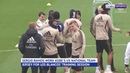 Real Madrid hold a minutes silence for Kobe Bryant during training