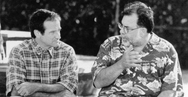 Робин Уильямс и Фрэнсис Форд Коппола беседуют на съемках комедии «Джек», 1996 год