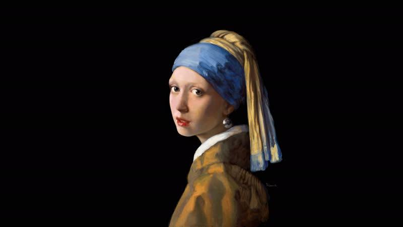 Повторяю «Девушку с жемчужной сережкой» Вермеера