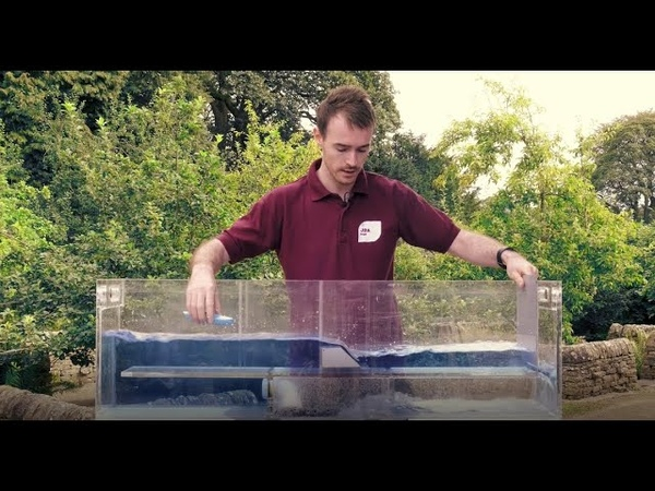 JBA Trust hydraulic flume showing how engineered structures affect flow in rivers (full video)