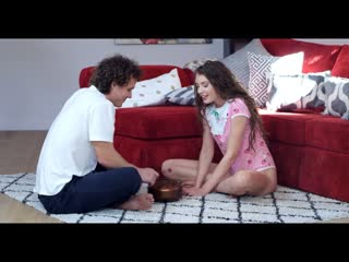 Elena Koshka - Russian Teen Gets Creampie by Step Bro [All Sex