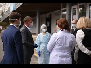 Роман Старовойт пообещал снова проверить больницу №6 в Курске