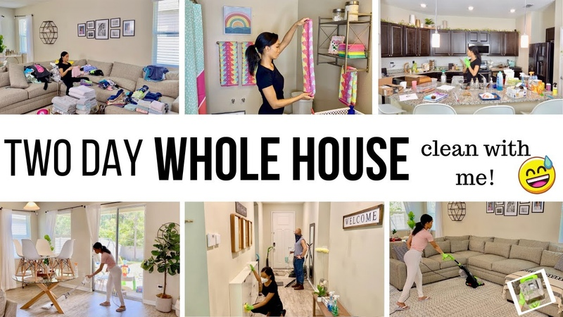 *TWO DAY* WHOLE HOUSE CLEAN ORGANIZE WITH ME 2020 CLEANING MOTIVATION Jessica Tull cleaning