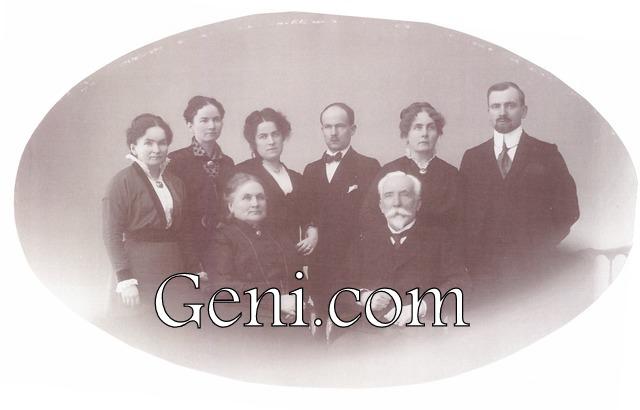 Мария и Карл Берг с детьми 1920-е гг.