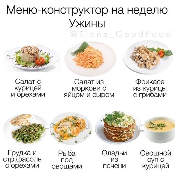 Примерные Меню Ужина Для Похудения. Питаемся правильно: меню для стройной фигуры на 7 дней