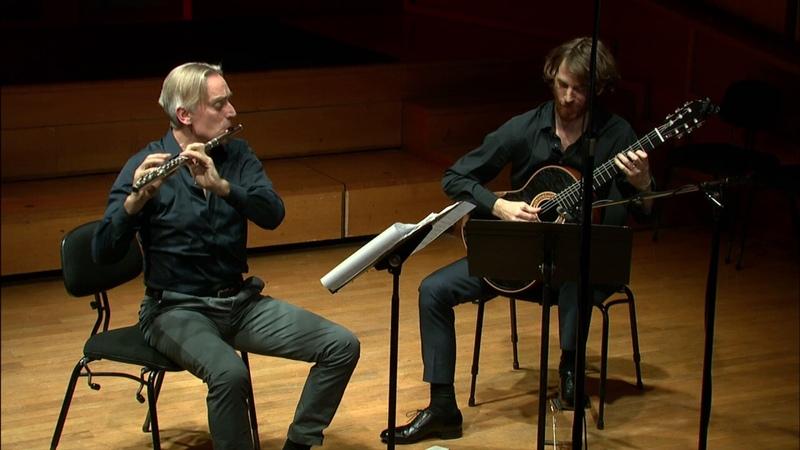 Sonatine Op 205 M C Tedesco LIVE Berten D'hollander flûte Nicolas Lestoquoy guitar