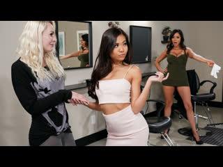 Ariella Ferrera, Vina Sky - Scissoring Rivalry [1080p, Porn, Teen, MILF, Lesbian, Licking, Fingering, Squirt, Feet] - Brazzers
