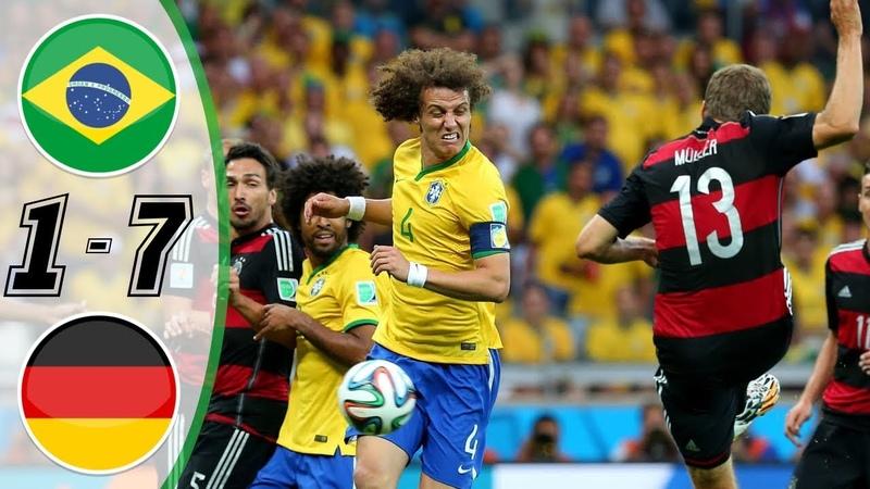 Brazil vs Germany 1 – 7 GOLES RESUMEN HIGHLIGHTS GOALS 2014 HD