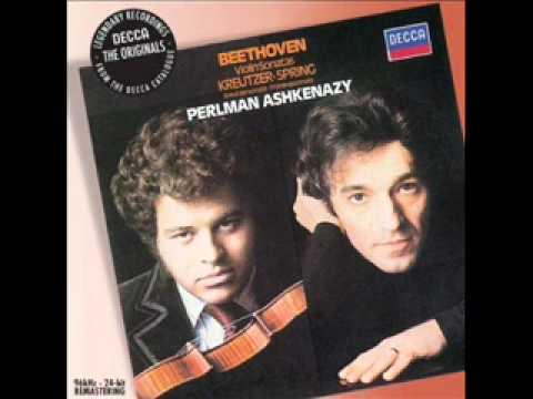 Beethoven violin sonata No. 5 Spring Mvts 3 and 4 (3/3) Perlman