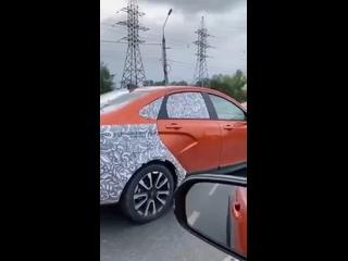 В Тольятти была замечена Lada Vesta Cross FL в защ...