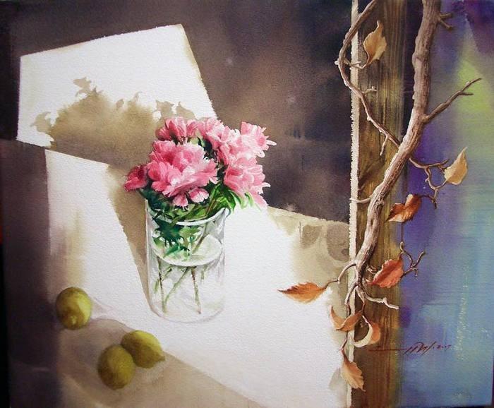 Акварельные работы художницы из Кореи Ю Ми Парк прекрасны и подходят не только для созерцательного восприятия.