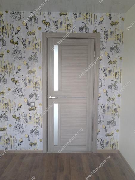 Межкомнатные двери с покрытием экошпон. Цвет Неапо...