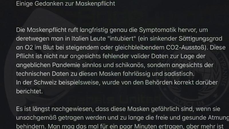 Anonymous Einige Gedanken zur Maskenpflicht