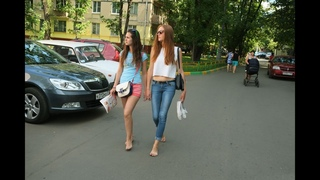Daria G + Unknown ginger beauty 2014, 2017... Two barefoot friends
