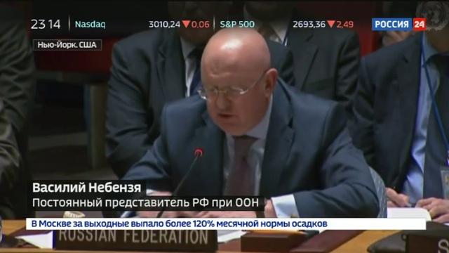 Новости на Россия 24 • Небензя: развернута новая кампания по очернению сирийских властей