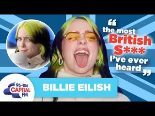 Billie Eilish угарает над британскими словами (Переведено сайтом )