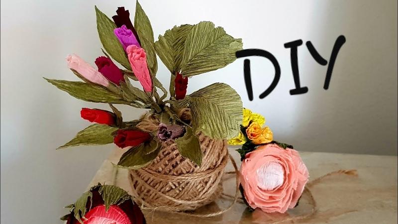 DIY How To Make A Different Flower Crepe Paper Cum Sa Faci O Floare Diferita Din Hartie Creponata