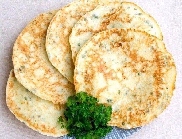 Аппетитные Сырные лепешки с зеленью